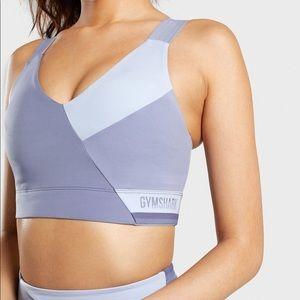 Gymshark color block sport bra size small